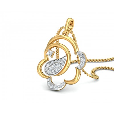 Reya Diamond Pendant In gold